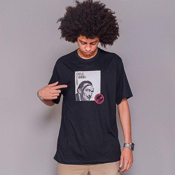 Camiseta Owl Abstract - Preto