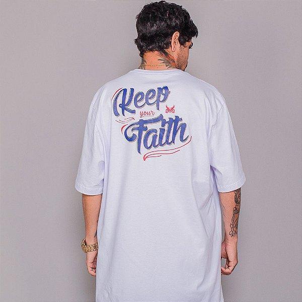 Camiseta Owl Keep your Faith - Branco