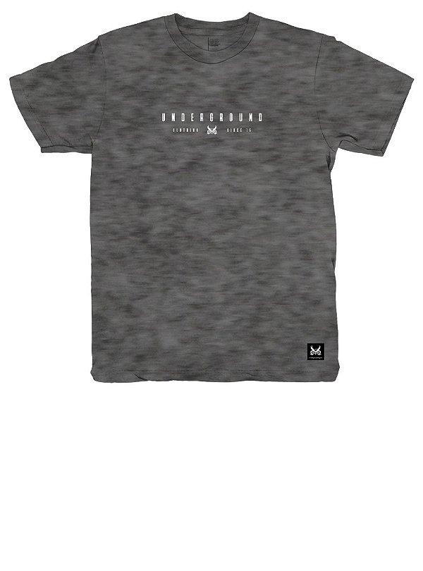Camiseta Lines - Mescla Preto