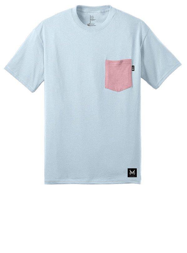 Camiseta com Bolso - Coral