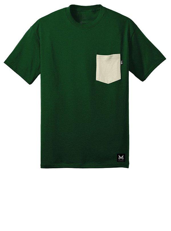 Camiseta com Bolso - Off White
