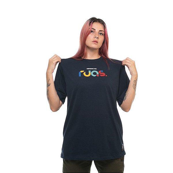 Camiseta Owl Ruas - Azul Marinho