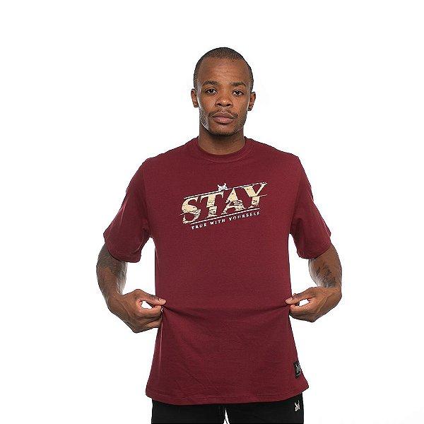 Camiseta Owl Stay True - Bordô