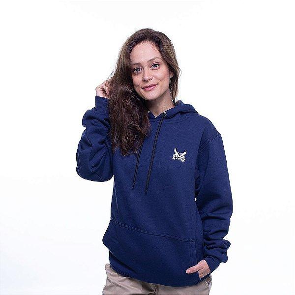 Blusa de Moletom Logo Básico - Azul Marinho