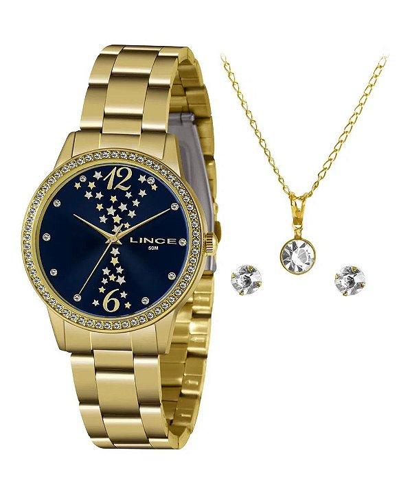 kit Relógio Feminino Lince analógico LRGJ133l KZ36D2KX