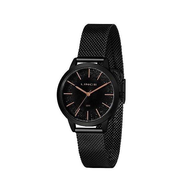 Relógio Lince Feminino Pequeno Preto LRN4678L P1PX