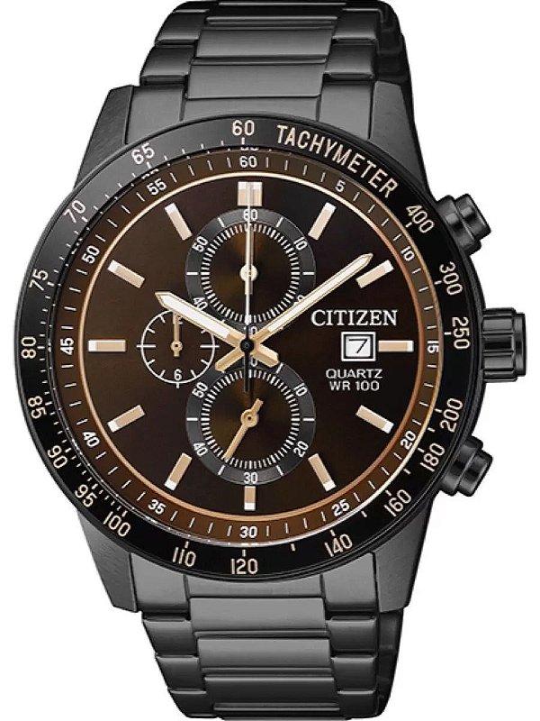 Relógio Citizen Masculino Preto Cronógrafo TZ31169R