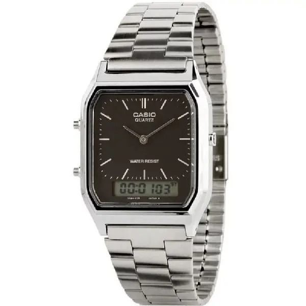 Relógio Casio Feminino Prata Anadigi AQ-230A-1DMQ-SC
