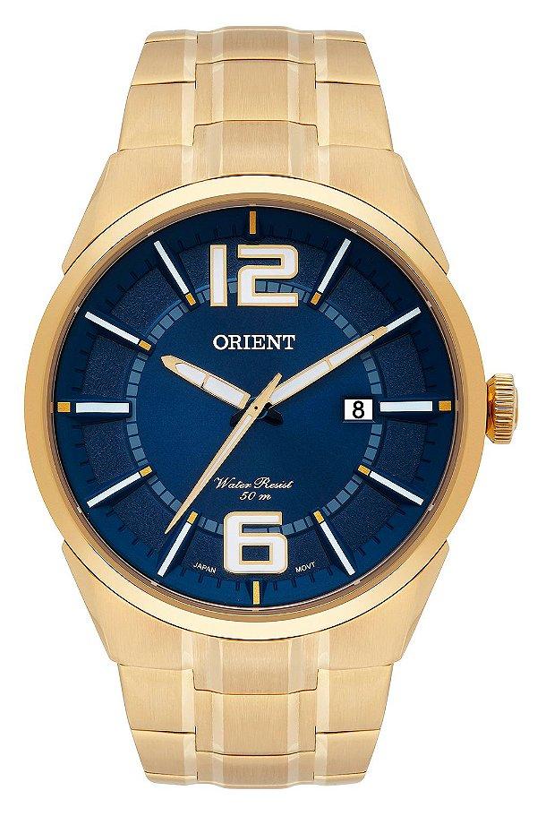 53521952d85 Relógio Orient Masculino Dourado MGSS1152 D2KX - Perolashop