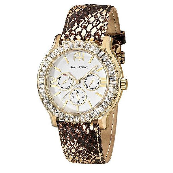 e93e8fd5c9a54 Relógio Ana Hickmann Feminino Analógico AH30040X - Perolashop