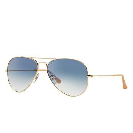 Óculos Solar Ray-Ban Aviator Gradiente - RB3025L 001/3F 58-14