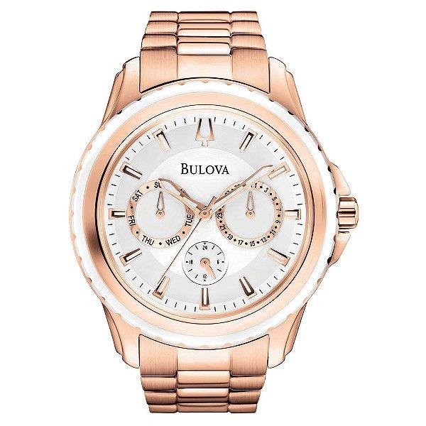 Relógio Bulova Feminino Cronograph WB22177Z Analógico