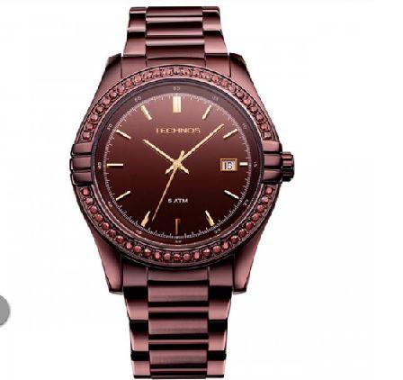 Relógio Technos Elegance Swarovski 2315HP/1M Cod.: 2315HP1M