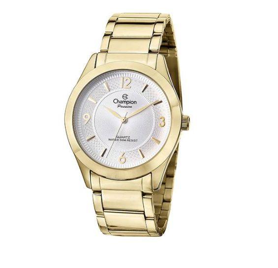 Relógio Feminino Champion Social Dourado CN28866H