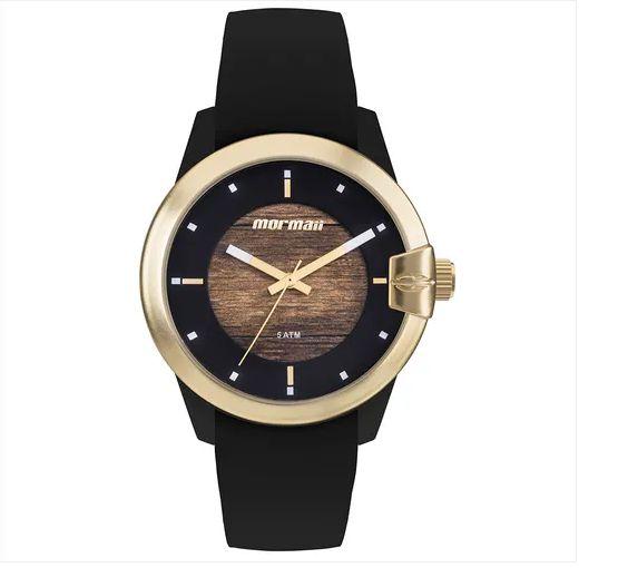 Relógio Mormaii Feminino Wood Dourado MO2035JL/8M