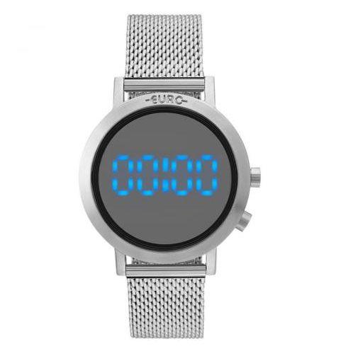 Relógio Euro Feminino Eubj3407ab/3p Digital Fashion Fit Prata