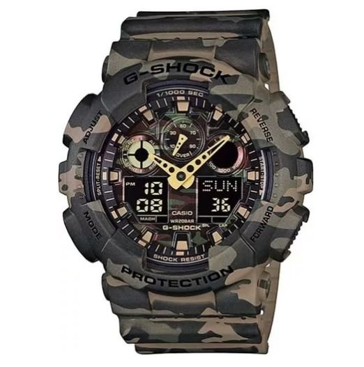 Relógio Casio G-shock Ga-100cm-5adr *camuflado