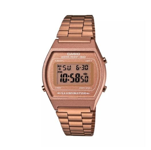 Relógio Casio Digital Feminino Vintage Rose Gold B640WC-5ADF
