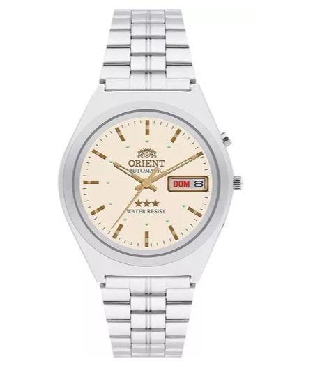 Relógio Masculino Prata Automático Orient 469WB1A C2SX