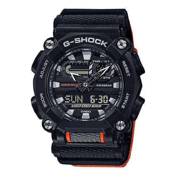 Relógio G-Shock GA-900C-1A4DR Preto/Laranja