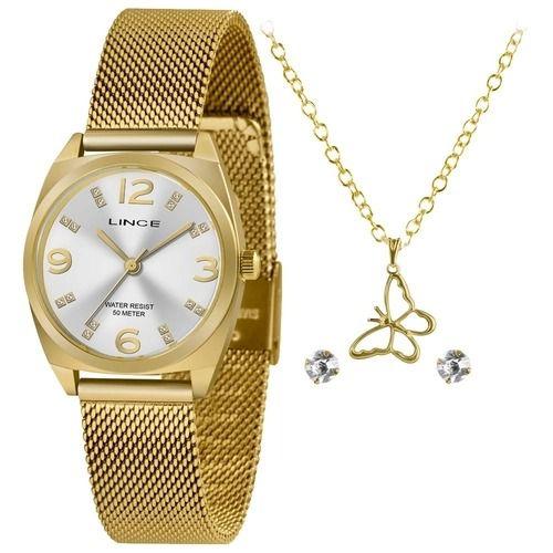 Kit Relógio Lince Feminino Lrgh139l Ky23C2KX