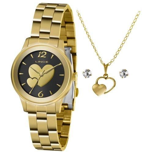 Kit Relógio Lince Feminino Lrgh150l Ky50