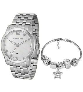 Relógio Lince Kit Prata LRM4552L KU93 B2SX