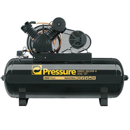 Compressor Onix Press 30 Pés 250 Litros 175 Libras Trifásico - Pressure