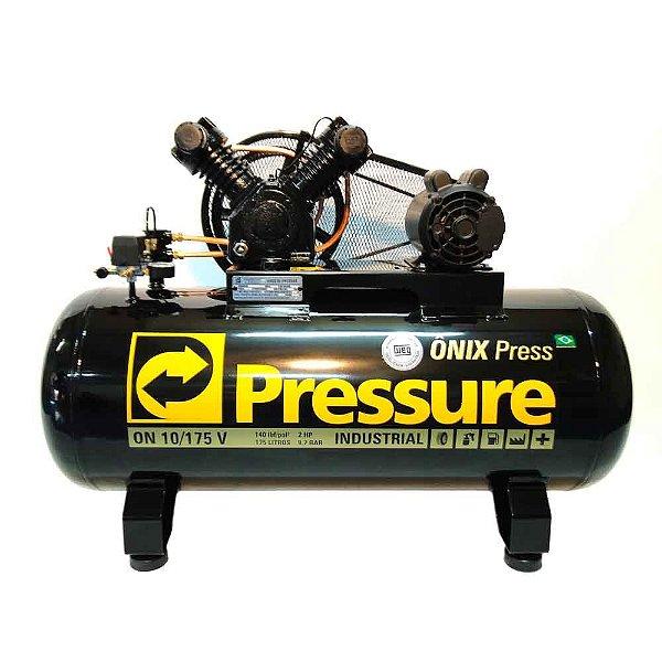 Compressor Onix Press 10 Pés 175 Litros Monofásico - Pressure