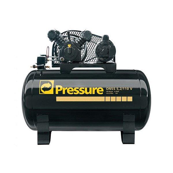 Compressor Onix Press 5,2 Pés 110 Litros Monofásico - Pressure