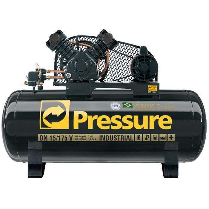 Compressor Onix Press 15 Pés 175 Litros Monofásico - Pressure