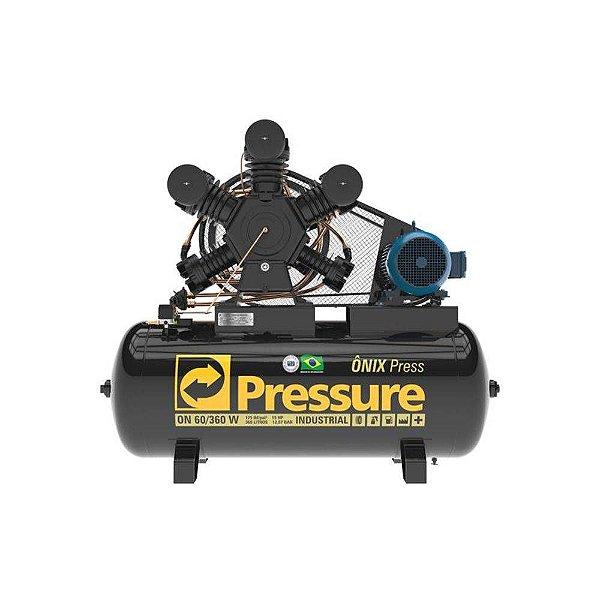 Compressor Onix Press 60 Pés 360 Litros Trifásico - Pressure