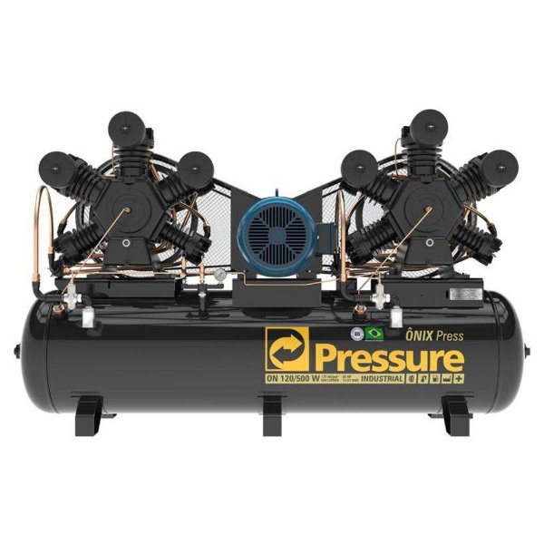 Compressor Onix Press 120 Pés 500 Litros Trifásico - Pressure