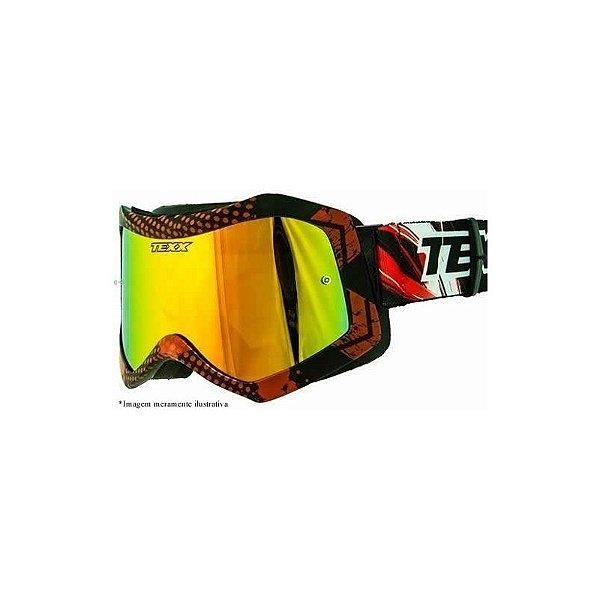 Óculos Texx Raider Pro - Grafico Preto Vermelho Fosco Lente - STI ... 2245eeedf6