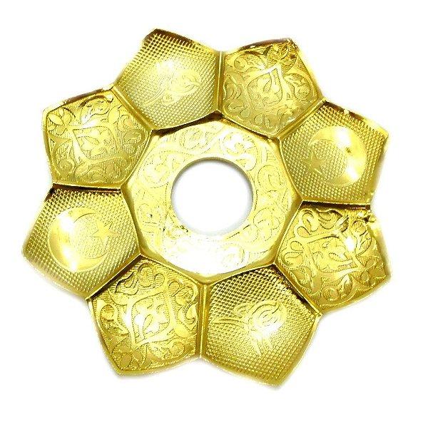 Prato Para Narguile MD El Nefes Dourado