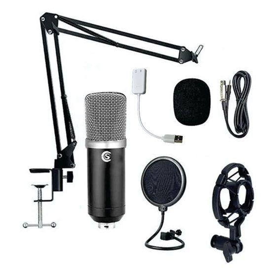 Kit Podcast Microfone Condensador Custom Sound CSMC6K