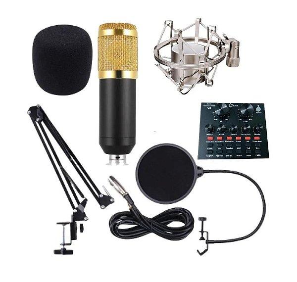 Kit Podcast Microfone Condensador Lotus LT-M121