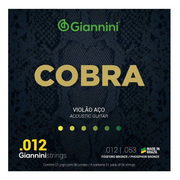 Encordoamento Violão Aço .012 Giannini Cobra GEEFLKSF