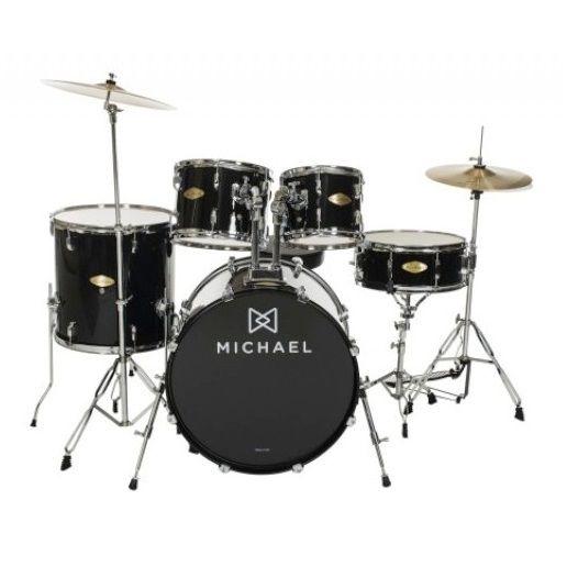 """Bateria Acústica 18"""" Michael Audition DM827 BK com Pratos"""