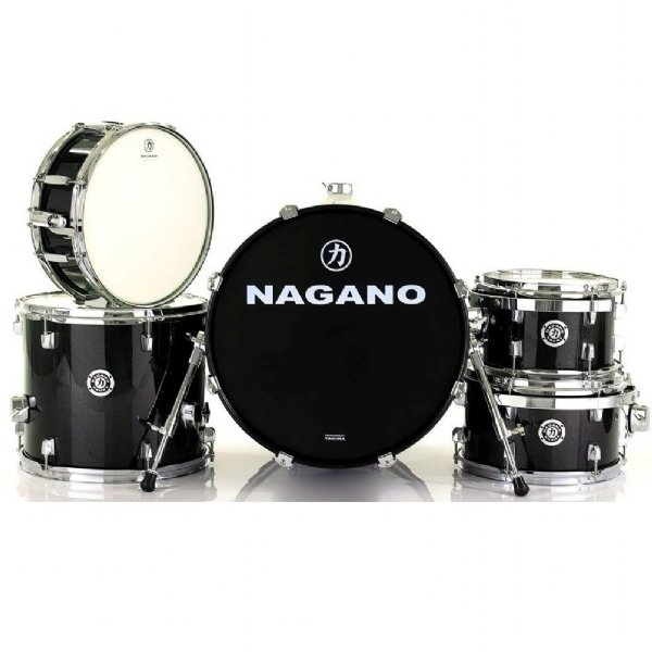 """Bateria Acústica 18"""" Nagano Garage Gig Ebony Sparkle"""