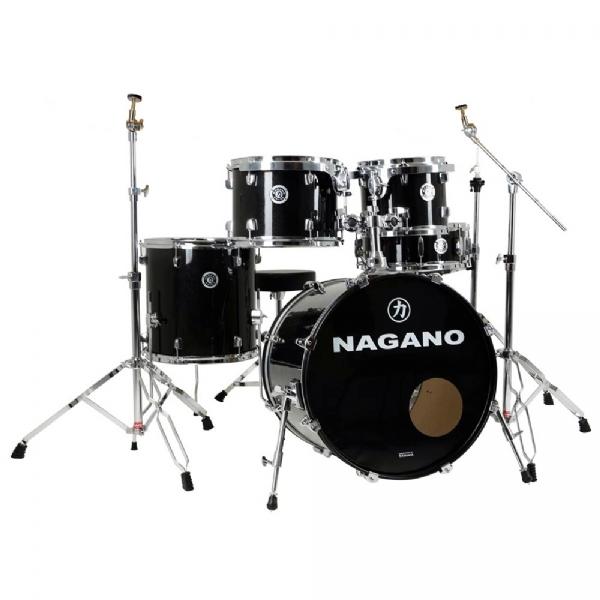 """Bateria Acústica 22"""" Nagano Garage Rock Ebony Sparkle"""