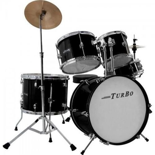 Bateria Acústica Turbo Action SP-525C BK com Pratos