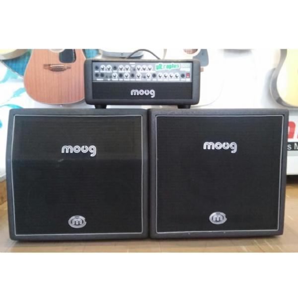 Cabeçote Moug para Baixo, Guitarra e Teclado com 2 Caixas