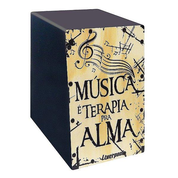 Mini Cajón Liverpool Música é Terapia pra Alma CAJ MUS