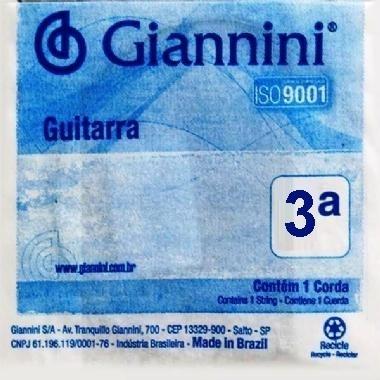 Encordoamento Avulso Guitarra Giannini GEEGST9.3 3ª Sol