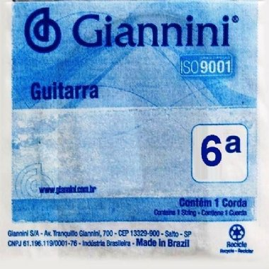 Corda Avulsa Guitarra Giannini GEEGST9.6 6ª Mí