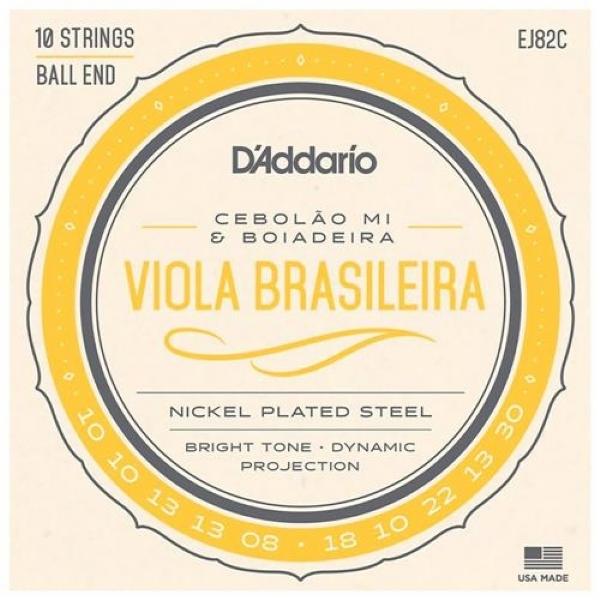 Encordoamento Avulso Viola Brasileira D'Addario Cebolão Mí & Boiadeira EJ82C