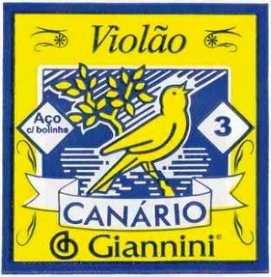 Encordoamento Avulso Violão Aço 3º Corda Giannini Canário GESWB3