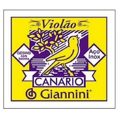 Encordoamento Avulso Violão Aço Giannini Canário GESWB2 2ª Sí