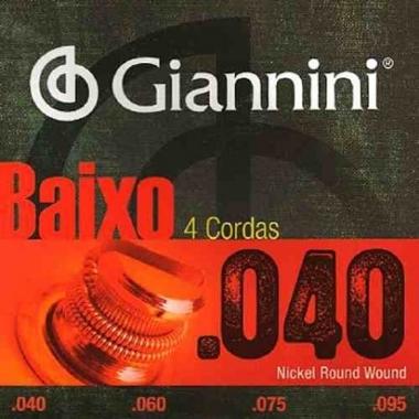 Encordoamento Contrabaixo 4 Cordas .040 Giannini GEEBRL4